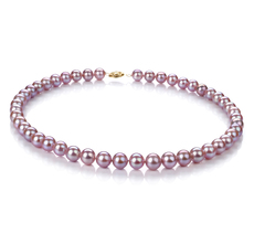 PearlsOnly - Lavender 8.5-9mm AA Quality Freshwater 10K Yellow Gold Cultured Pearl Necklace