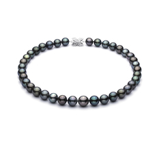 PearlsOnly - Multicolor 11.04-13.19mm AAA Quality Tahitian 14K White Gold Cultured Pearl Necklace