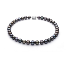 11-13.4mm AA+ Quality Tahitian Cultured Pearl Necklace in Multicolor