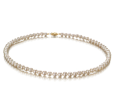 PearlsOnly - White 5-5.5mm AA Quality Freshwater Alloy Cultured Pearl Necklace