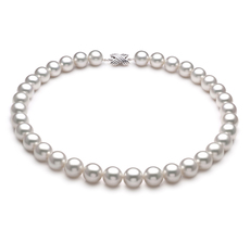 PearlsOnly - White 12-13mm AAA Quality South Sea 18K White Gold Cultured Pearl Necklace