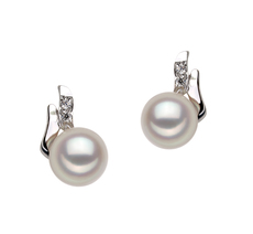 6-7mm AA Quality Japanese Akoya Cultured Pearl Earring Pair in Sydney White