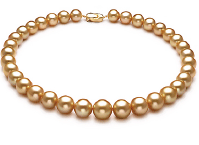 Gold and White South Sea Pearl Necklaces
