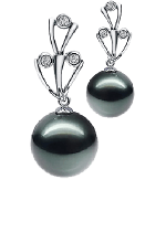 Black Color Pearl Earrings