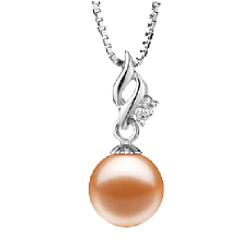 Real freshwater pearl pendant for sale buy online at pearlsonly pink freshwater pearl pendants aloadofball Image collections