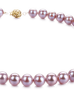 Lavender Color Pearl Necklaces