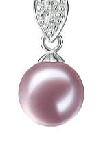 Lavender Color Pearl Pendants