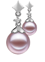 Lavender Color Pearl Earrings