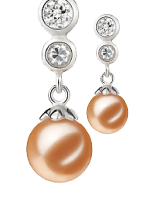 Pink Color Pearl Earrings