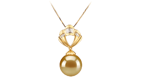 Golden South Sea Pearl Pendants