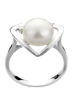 White Color Pearl Rings