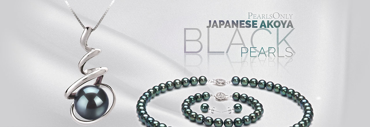 Landing banner for Black Japanese Akoya Pearls