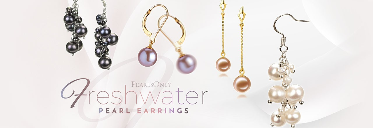 PearlsOnly Freshwater Pearl Earrings
