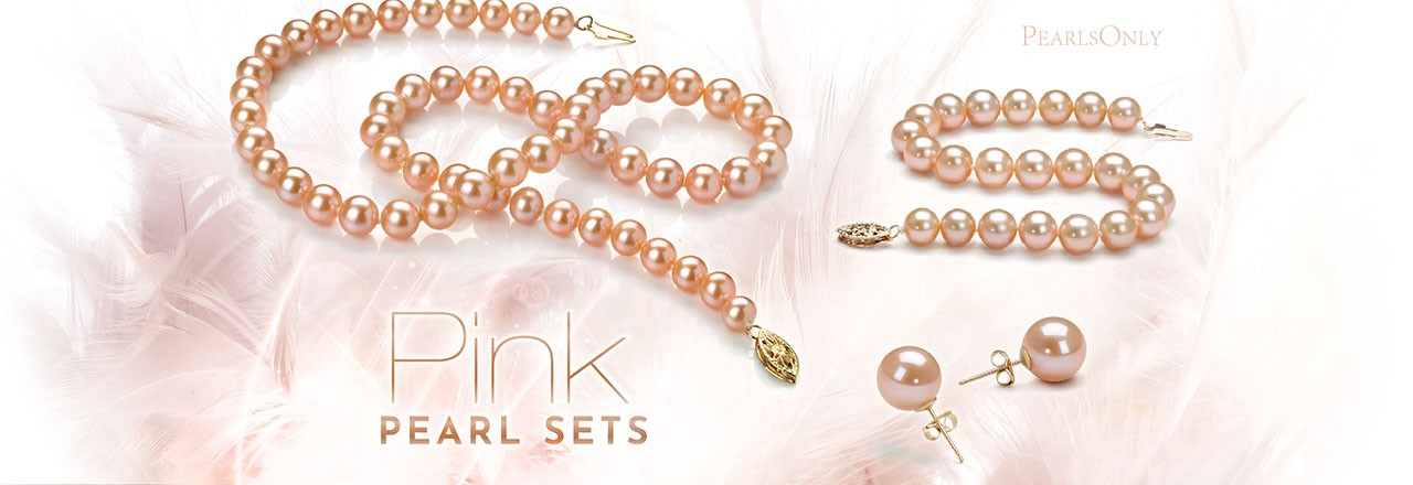 PearlsOnly Pink Pearl Sets