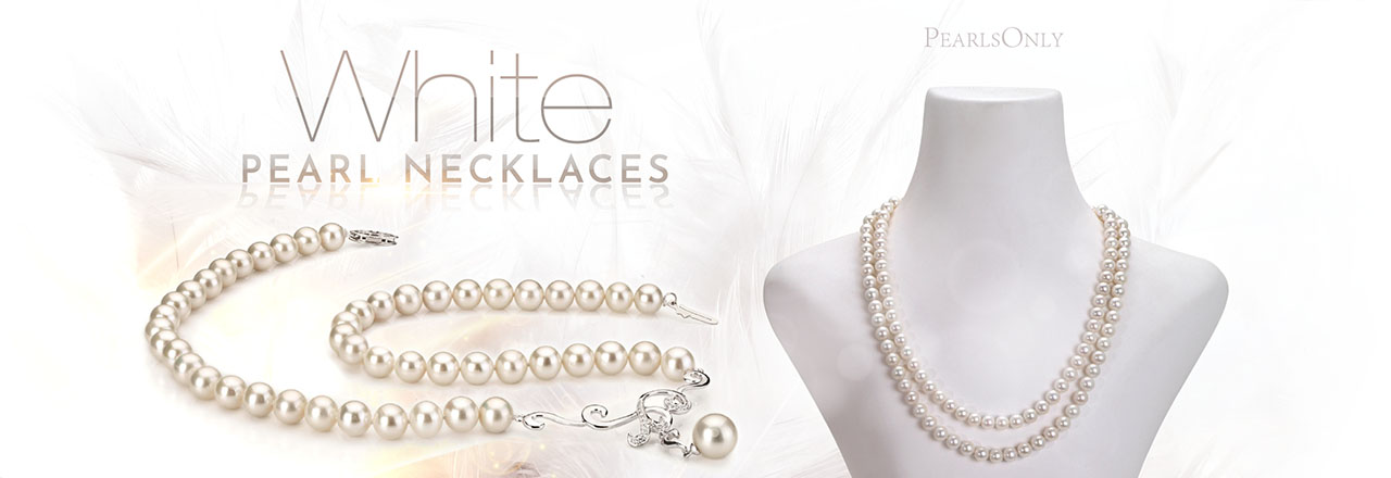 Landing banner for White Pearl Necklaces