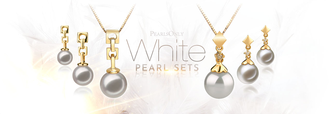 PearlsOnly White Pearl Sets