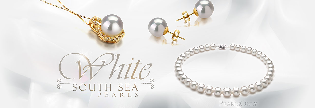 PearlsOnly White South Sea Pearls
