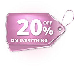 20% off on EVERYTHING