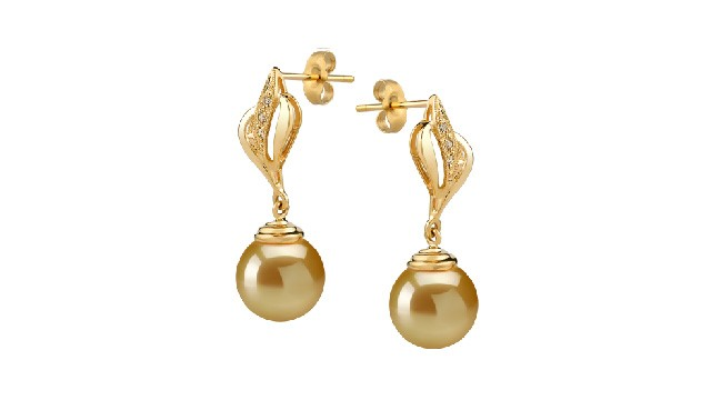 View Golden South Sea Pearl Earrings collection